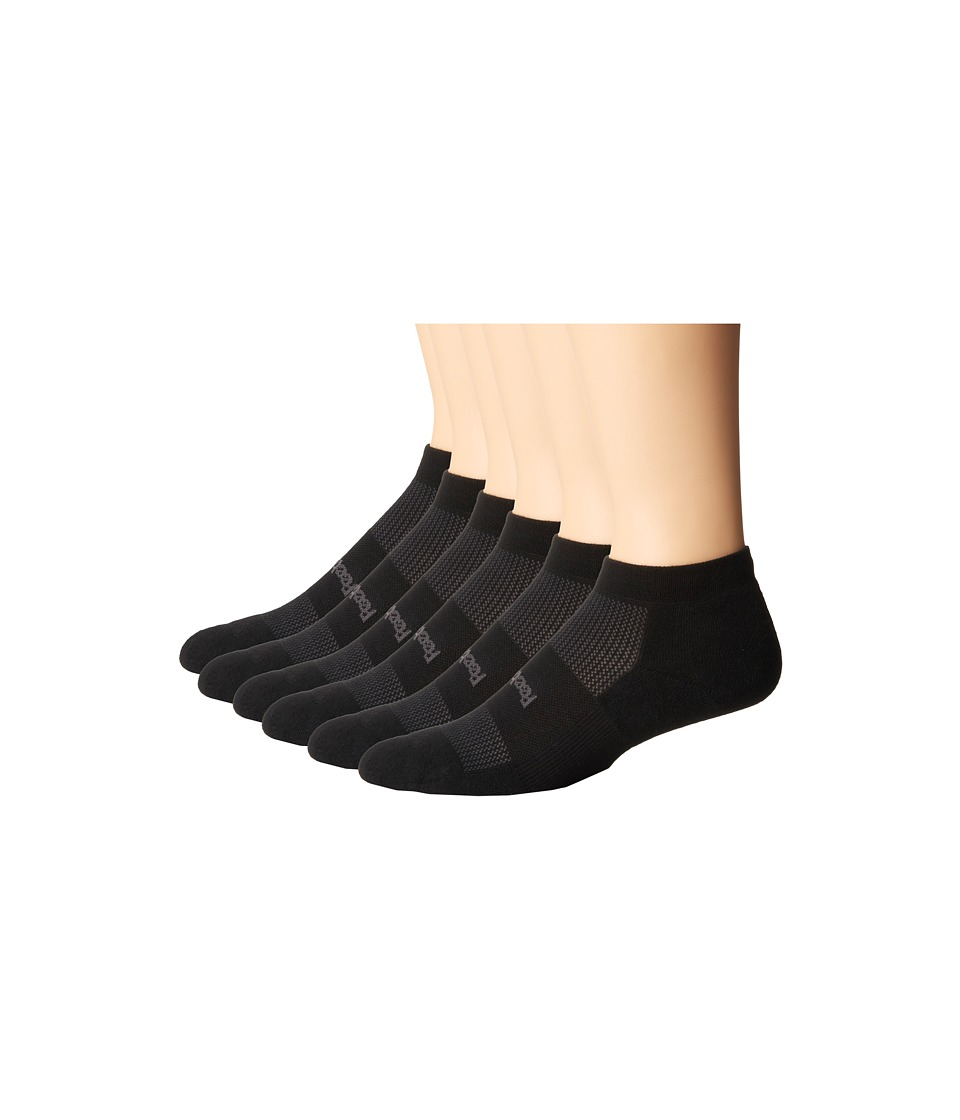 Feetures - High Performance Light Cushion Low Cut 6-Pair Pack (Black) Low Cut Socks Shoes