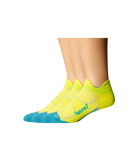 Feetures - Elite Ultra Light No Show Tab 3-Pair Pack (Reflector/Aqua) No Show Socks Shoes