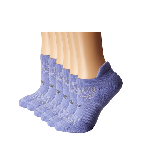 Feetures - High Performance Light Cushion No Show Tab 6-Pair Pack (Periwinkle) No Show Socks Shoes