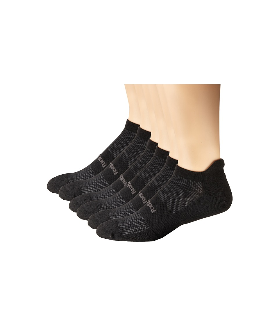 Feetures - High Performance Light Cushion No Show Tab 6-Pair Pack (Black) No Show Socks Shoes