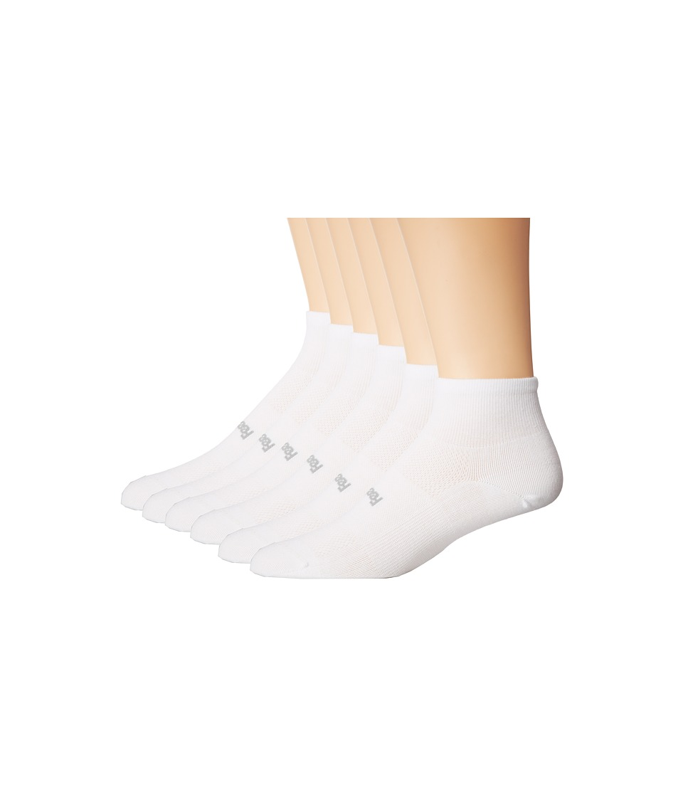 Feetures - High Performance Ultra Light Quarter 6-Pair Pack (White) Quarter Length Socks Shoes