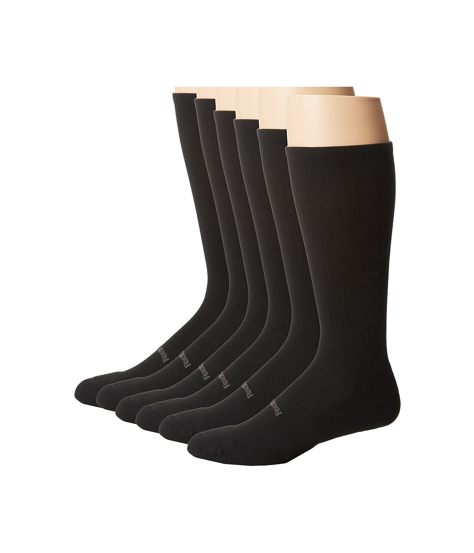 Feetures - High Performance Light Cushion Crew 6-Pair Pack (Black) Crew Cut Socks Shoes