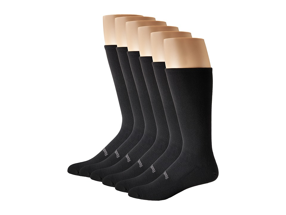 Feetures - High Performance Ultra Light Crew 6-Pair Pack (Black) Crew Cut Socks Shoes