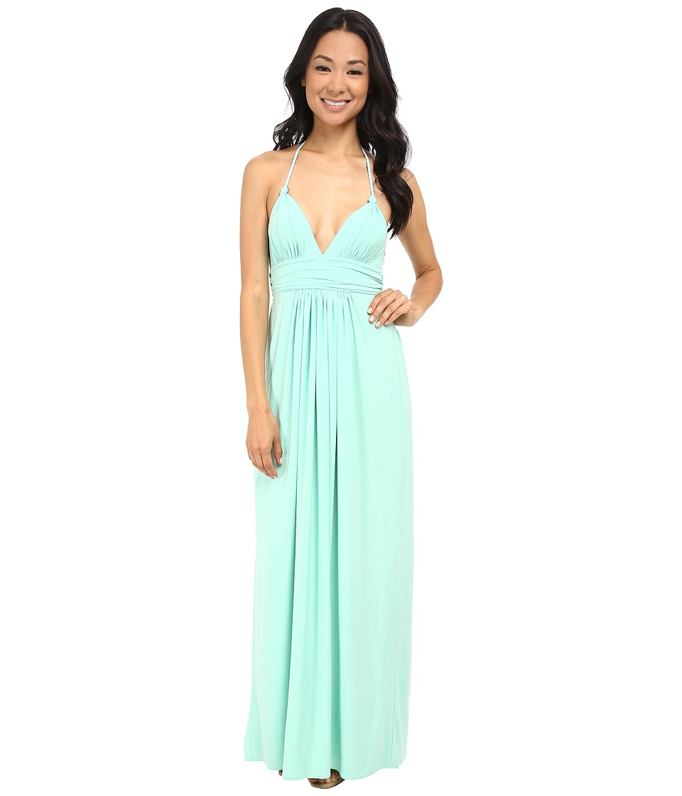 Tbags Los Angeles - Halter Maxi Dress (Mint) Women's Dress