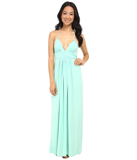Tbags Los Angeles - Halter Maxi Dress (Mint) Women