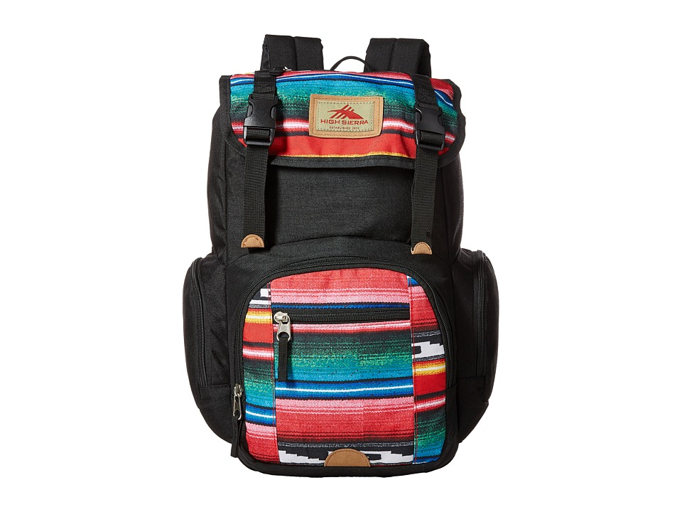 High Sierra - Emmett Backpack (Black/Serape) Backpack Bags