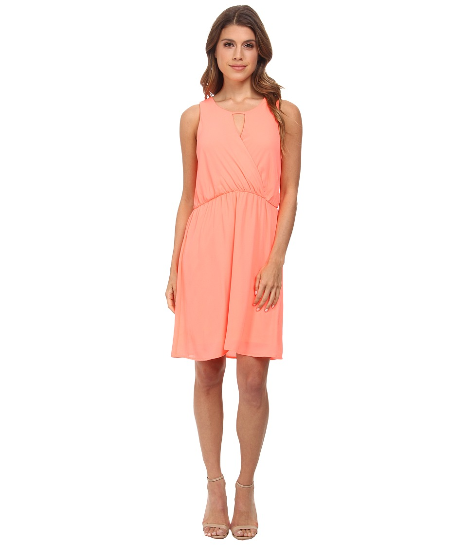 Brigitte Bailey - Janice Dress (Neon Coral) Women's Dress