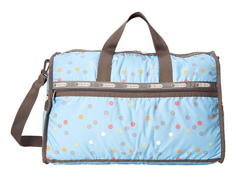 LeSportsac Luggage - Large Weekender (Litho Dot Blue) Duffel Bags