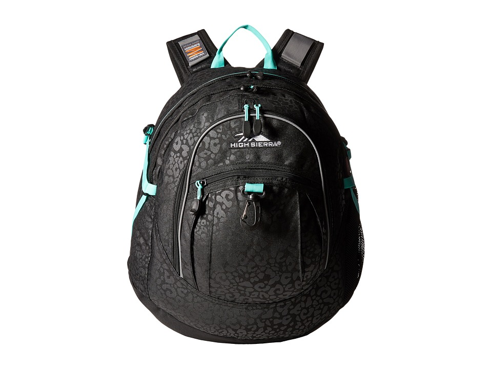 High Sierra - Fat Boy Backpack (Chic Leopard/Black/Aquamarine) Backpack Bags