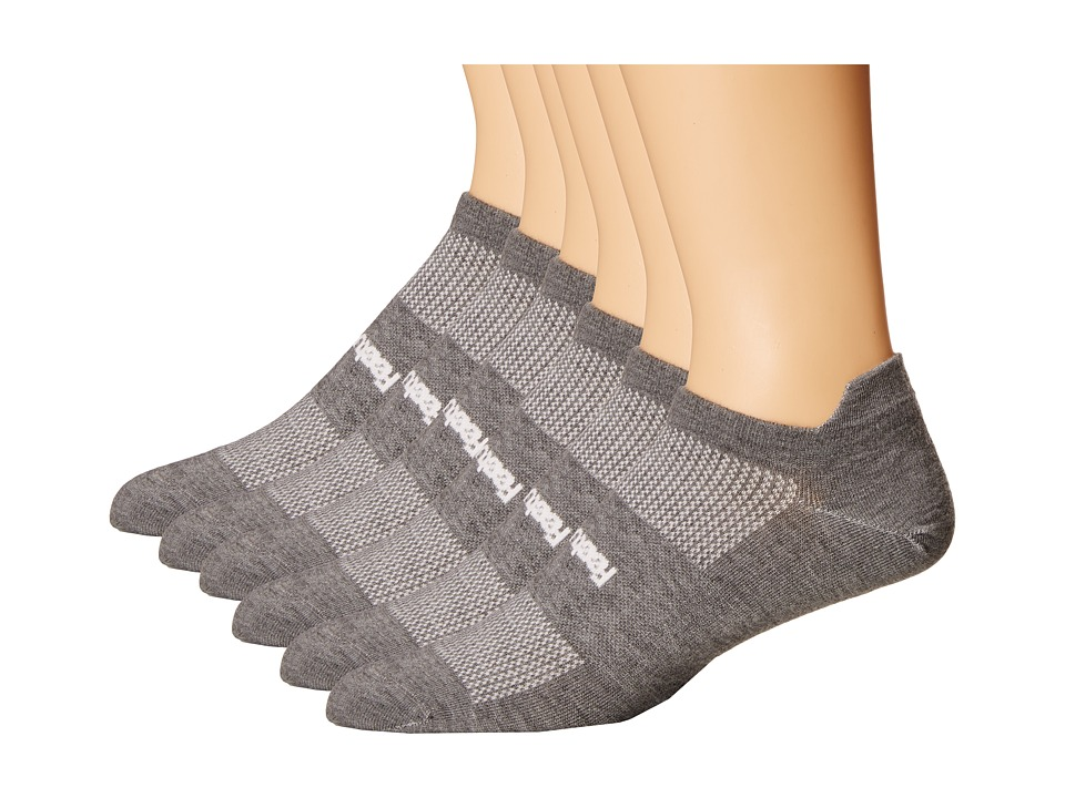 Feetures - High Performance Ultra Light No Show Tab 6-Pair Pack (Heather Gray 1) No Show Socks Shoes