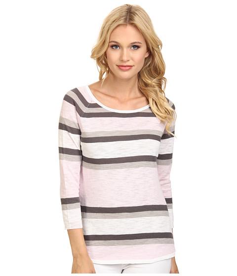 C&C California - 3/4 Sleeve Stripe Sweater (Light Lilac) Women