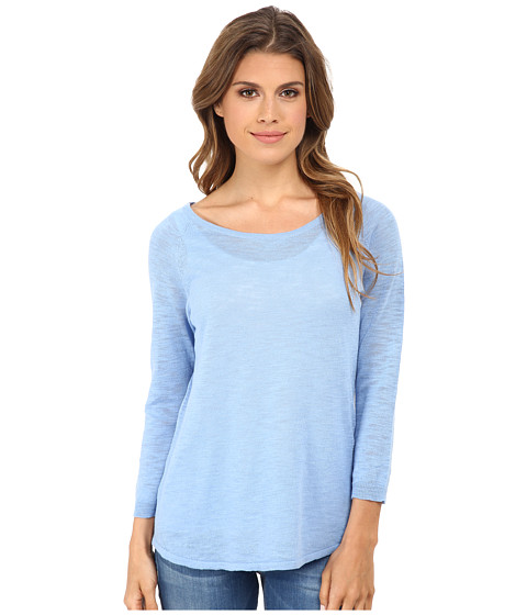 C&C California - 3/4 Sleeve Solid Sweater (Bel Air Blue) Women's Sweater