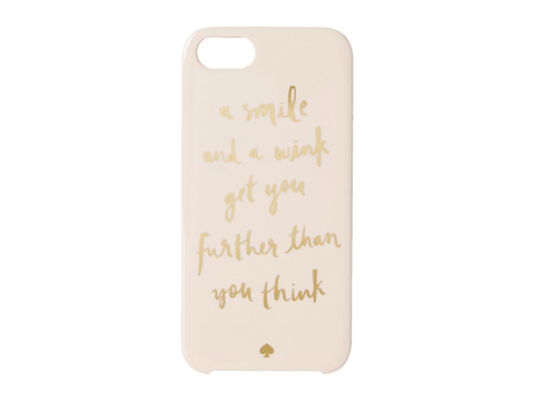 Kate Spade New York - Resin iPhone 5 A Smile and A Wink (Blush) Cell Phone Case