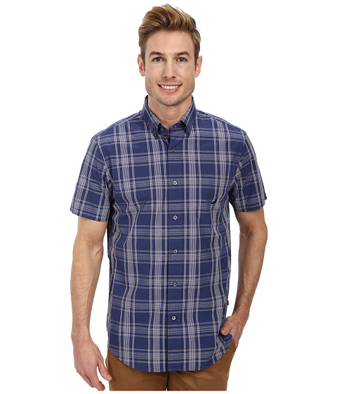 Nautica - Short Sleeve Large Plaid (Passage Navy) Men's Short Sleeve Button Up