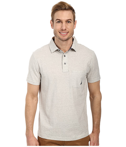 Nautica - Short Sleeve Solid Polo (Sailingsal) Men's Short Sleeve Pullover