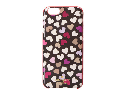 Kate Spade New York - Resin iPhone 6 Dancing Hearts (Black) Cell Phone Case