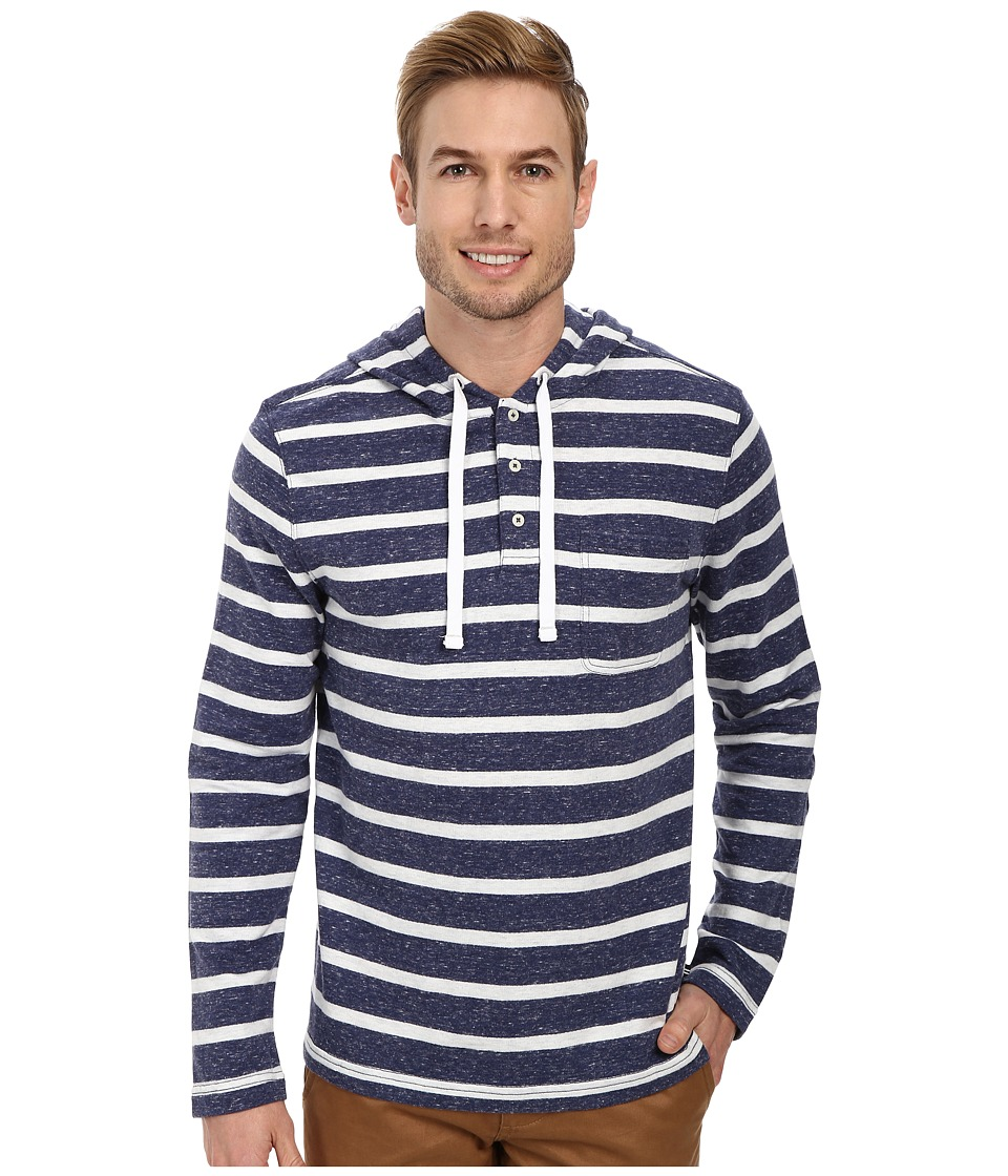 Nautica - Striped Hoodie (Passage Navy) Men's Sweatshirt
