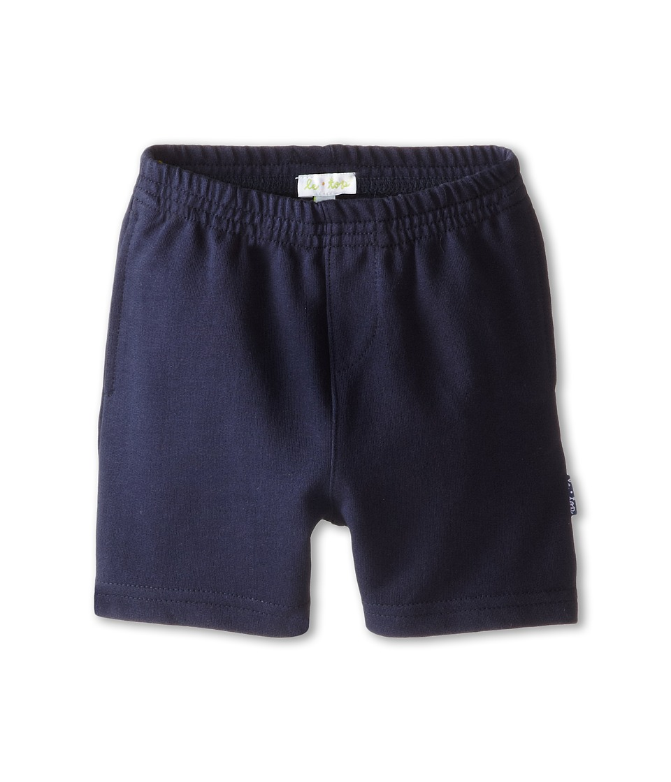 le top - Frog French Terry Shorts (Infant/Toddler) (Navy) Boy's Shorts