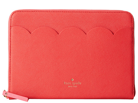 Kate Spade New York - iPad Air Sleeve Scallop Key Item (Geranium) Wallet
