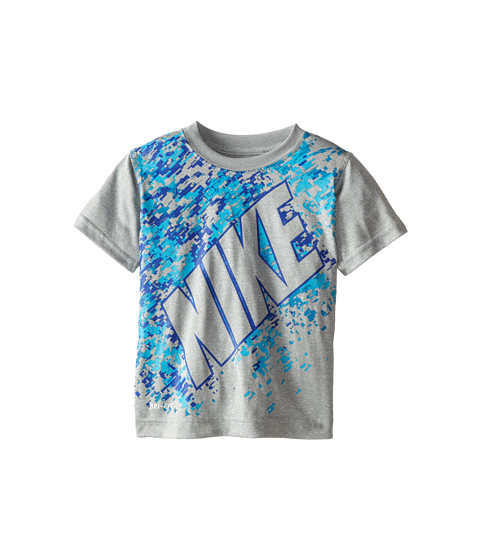 Nike Kids - Dri Fit Short Sleeve Tee (Toddler) (Grey Heather) Boy