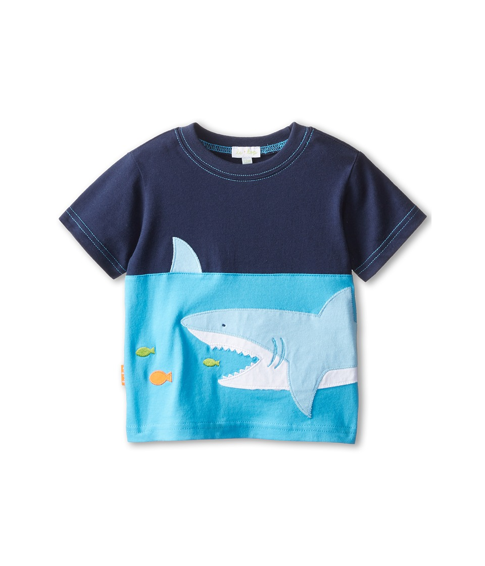 le top - Ocean Adventure Pieced Shirt Shark (Infant/Toddler) (Navy) Boy