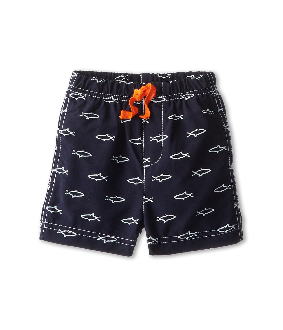 le top - Ocean Adventure Shark Swim Trunk (Newborn/Infant/Toddler) (Navy) Boy