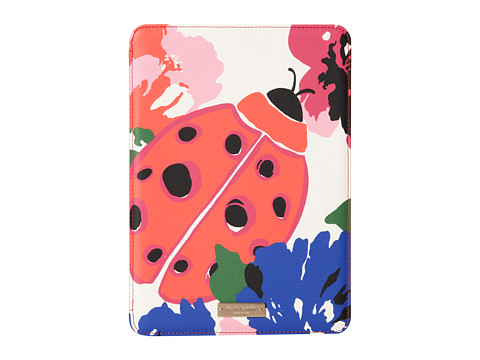 Kate Spade New York - iPad Air Hardcase Spring Blooms with Ladybug Jewel (Multi) Wallet