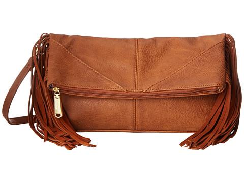 Steve Madden - Bwestie Fringe Clutch (Cognac) Clutch Handbags