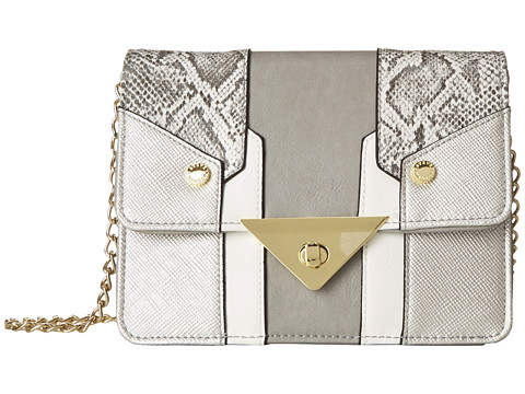 Steve Madden - Bjaxx Snake Trim Crossbody (Grey) Cross Body Handbags