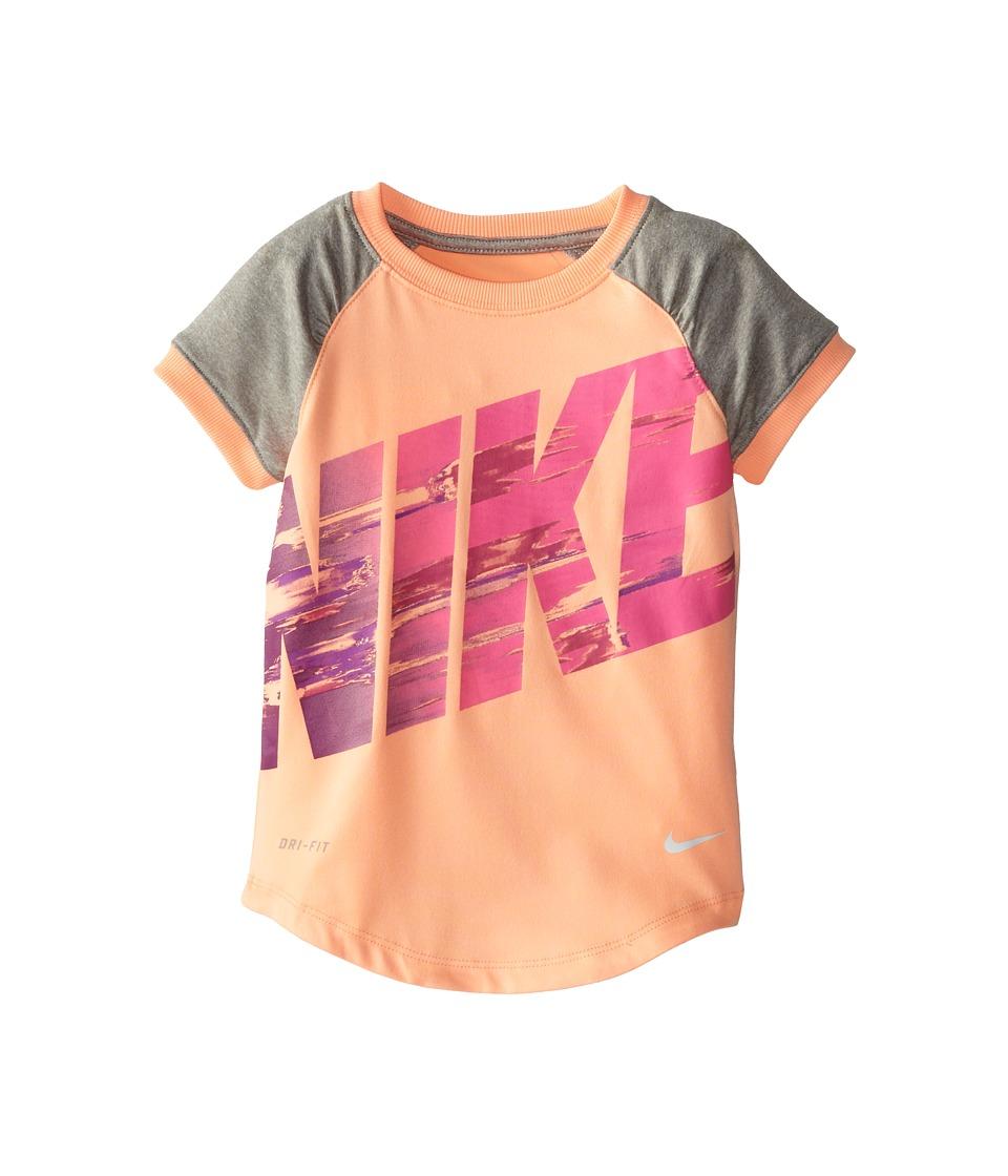 Nike Kids - Dri Fit Sport Essentials Raglan Short Sleeve Top (Toddler) (Sunset Glow) Girl