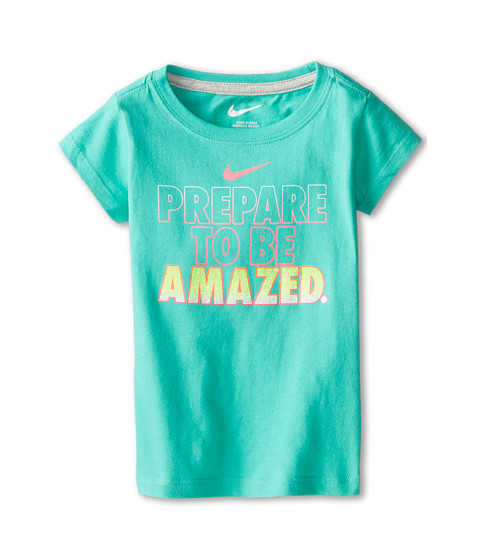 Nike Kids - Prepare To Be Amazed Short Sleeve Tee (Toddler) (Menta) Girl