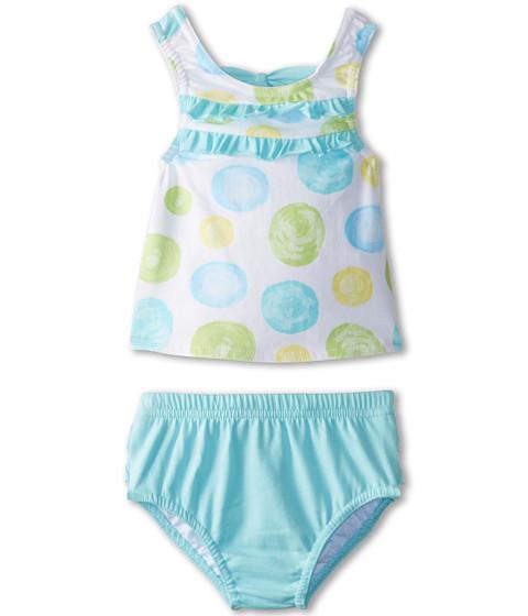 le top - Confetti Tankini (Newborn/Infant/Toddler) (Aquamarine) Girl