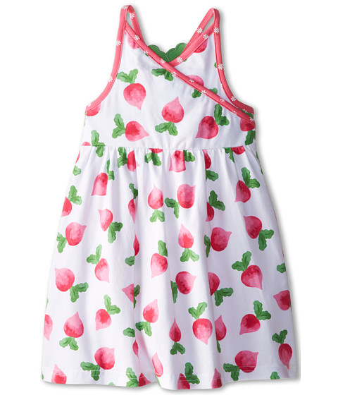 le top - Eat Your Veggies! Radish Cross Front Sundress w/ Radish Back (Toddler/Little Kids) (Ruby Pink) Girl