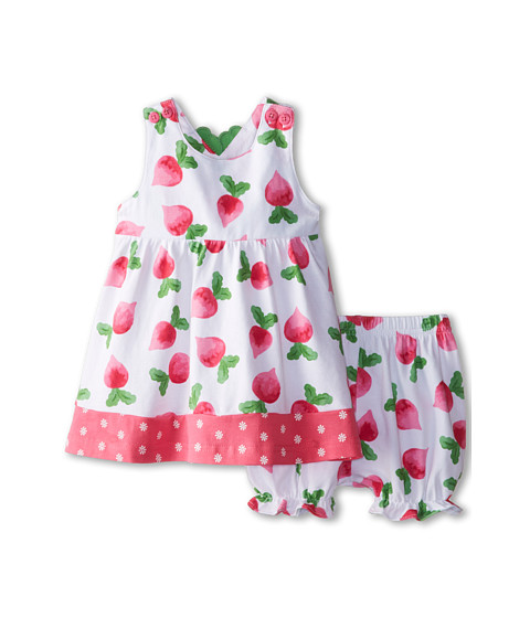 le top - Eat Your Veggies! Radish Dress and Bloomer Radish Back (Newborn/Infant) (Ruby Pink) Girl