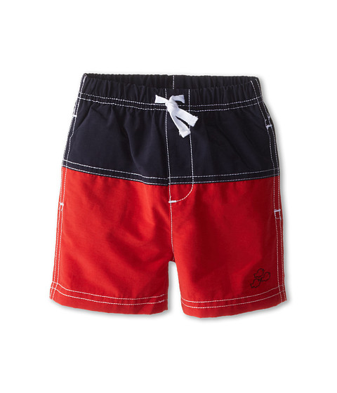 le top - Sail Away! Pieced Swim Trunk Fish (Infant/Toddler) (Red) Boy's Swimwear