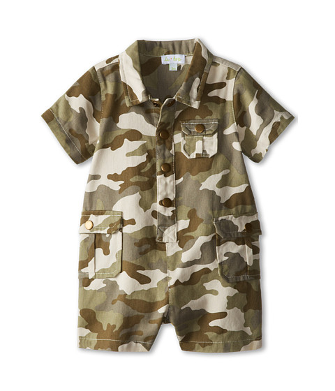 le top - Little Explorer Camo Romper (Newborn/Infant) (Camo Green) Boy