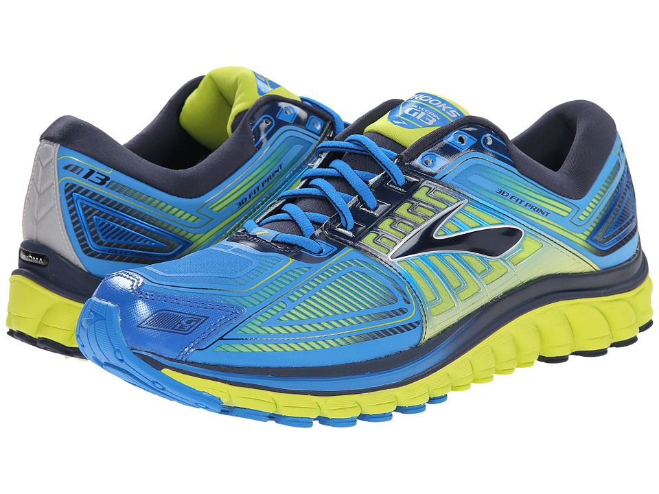 Brooks - Glycerin 13 (Electric Blue Lemonade/Lime Punch/Dress Blues) Men's Running Shoes