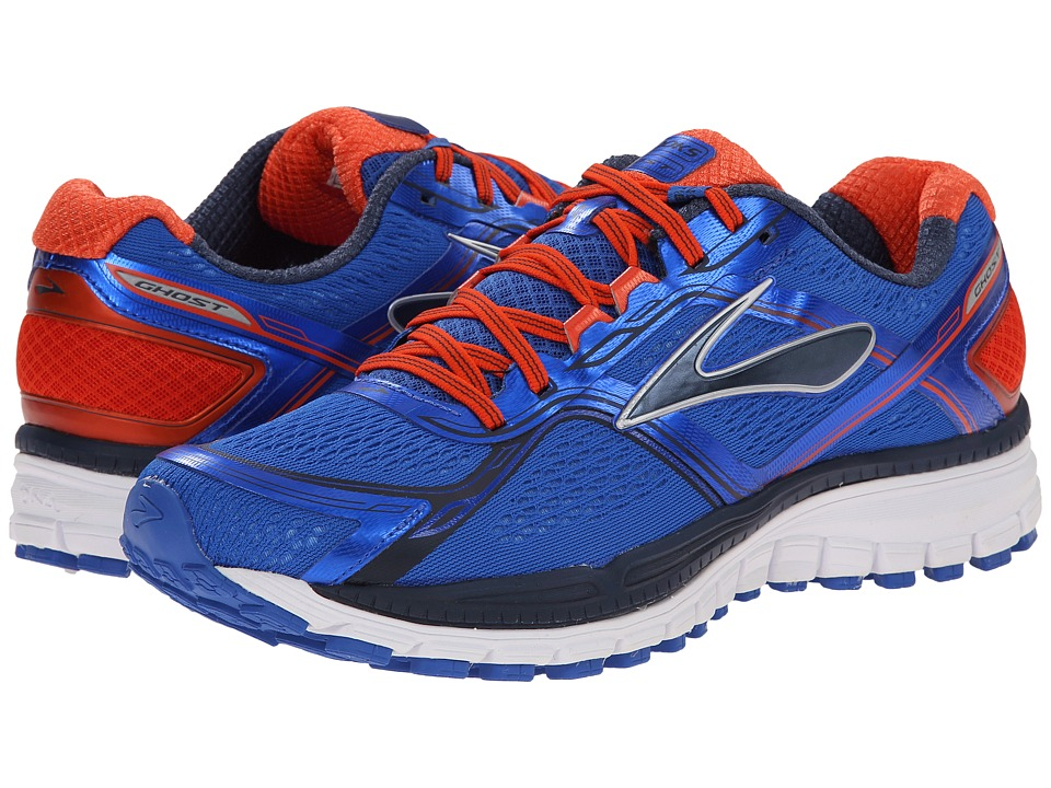 Brooks - Ghost 8 (Electric Brooks/Spicy Orange/Dress Blues) Men's Running Shoes