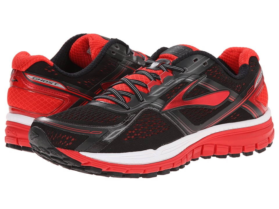 Brooks - Ghost 8 (Black/High Risk Red/Silver) Men's Running Shoes
