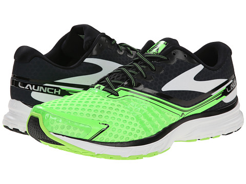 Brooks - Launch 2 (Brite Green/Black/White) Men's Shoes
