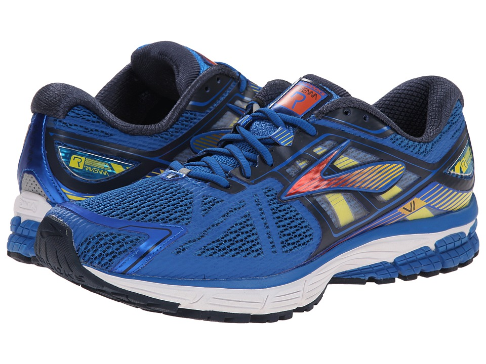 Brooks Ravenna 6 (Skydiver/Red Orange/Cyber Yellow) Men