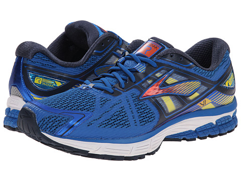 Brooks - Ravenna 6 (Skydiver/Red Orange/Cyber Yellow) Men's Running Shoes