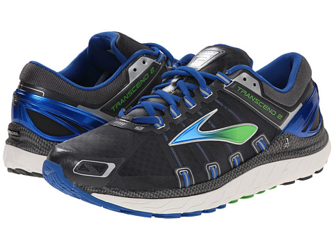Brooks - Transcend 2 (Anthracite/Skydiver/Speed Green) Men's Running Shoes