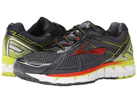 Brooks - Adrenaline GTS 15 (Anthracite/Lime Punch/Orange.com) Men's Running Shoes