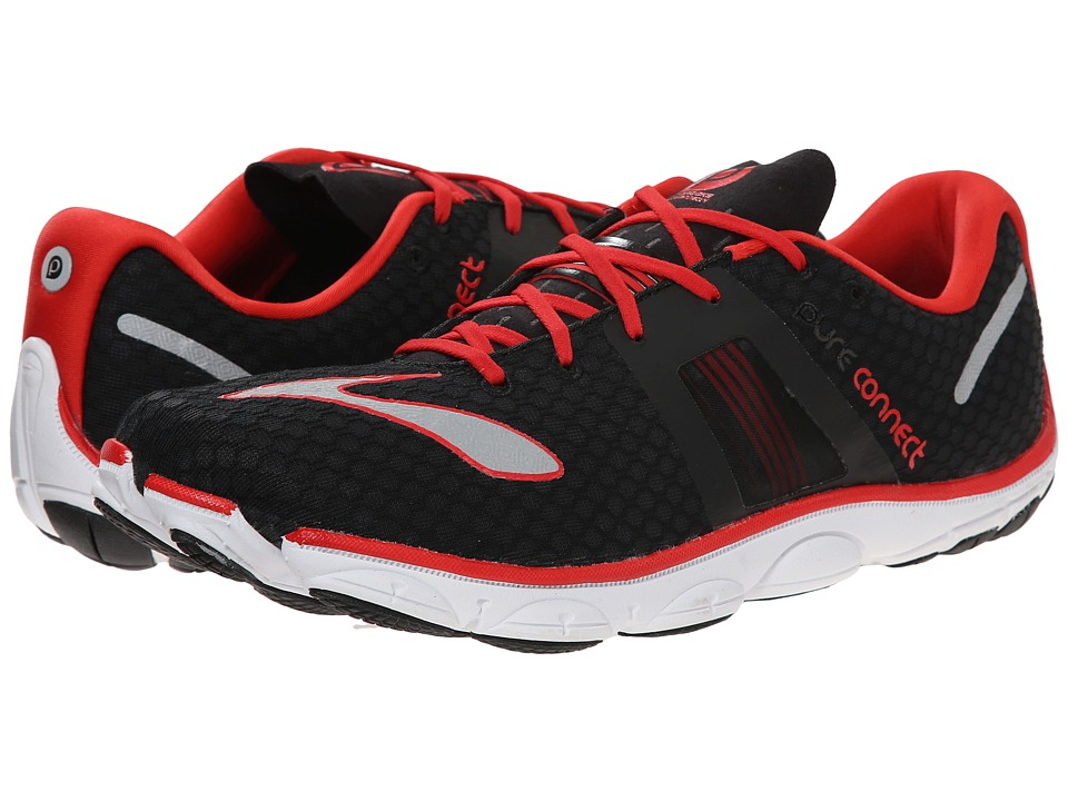 Brooks PureConnect 4 (Black/High Risk Red/Silver) Men
