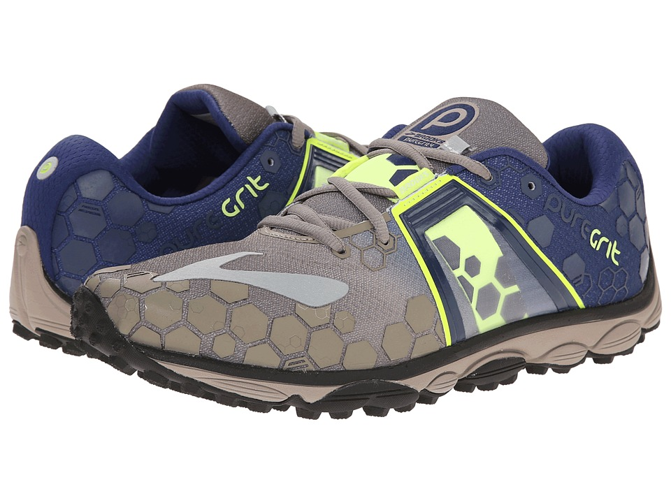 Brooks - PureGrit 4 (Driftwood/Blueprint) Men's Running Shoes