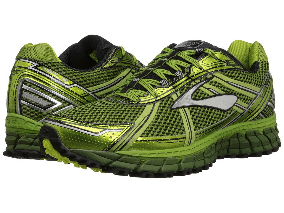 Brooks - Adrenaline ASR 12 (Avocado/Black/Green Garden) Men's Running Shoes