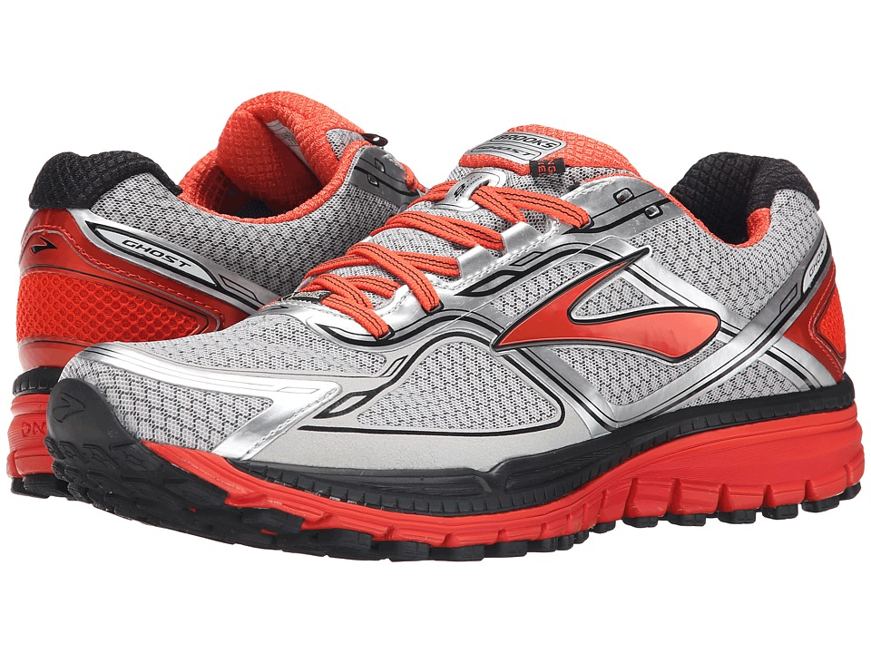 Brooks - Ghost 8 GTX (Silver/Poinciana/Black) Men's Running Shoes