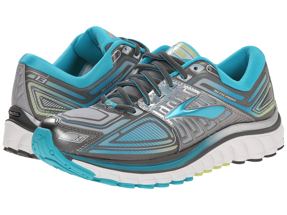 Brooks Glycerin 13 (Metallic Charcoal/Bluebird/Sharp Green) Women
