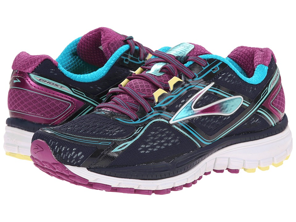 Brooks - Ghost 8 (Peacoat/Hollyhock/Capri Breeze) Women's Running Shoes